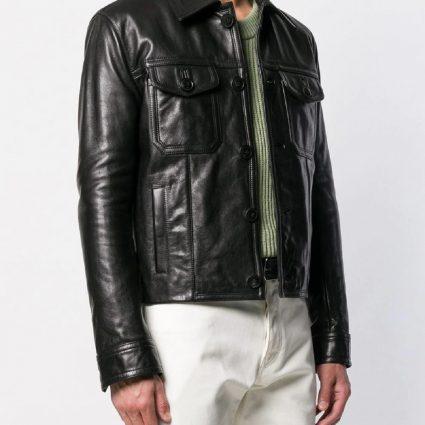 classic men black jacket
