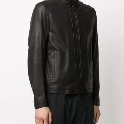 trending men brown leather jacket