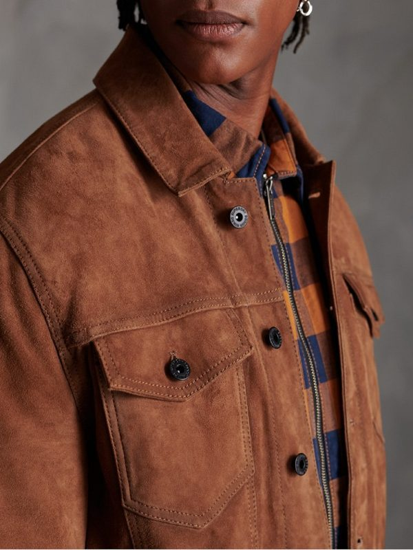 men tawny brown jacket