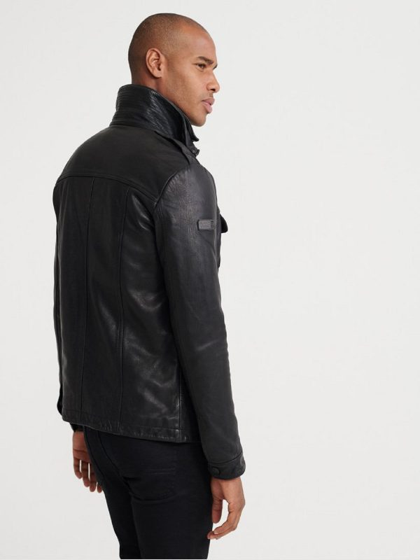 casual leather jacket for men