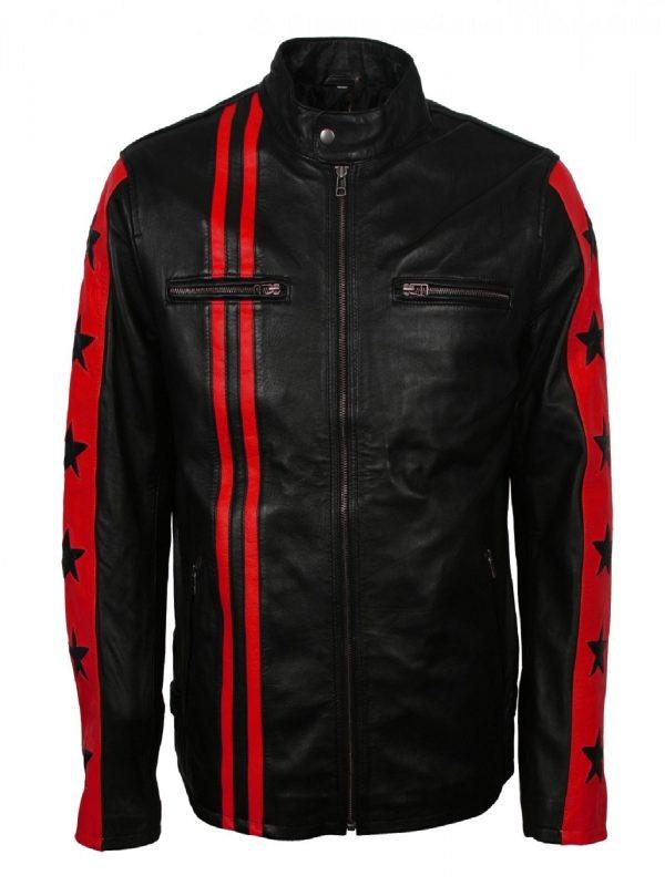 men black motorcycle jacket