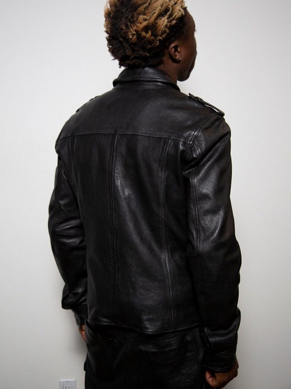 street style leather jacket for men