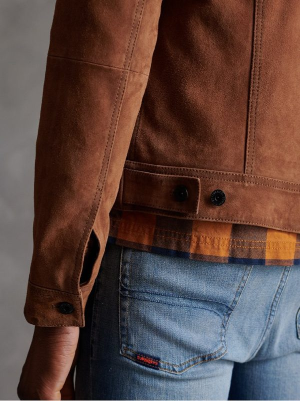trending brown leather jacket