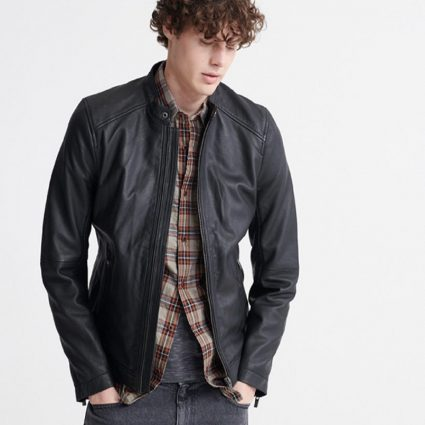 dull black jacket for men