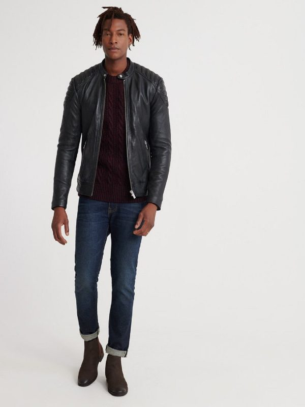 men city racer leather jacket