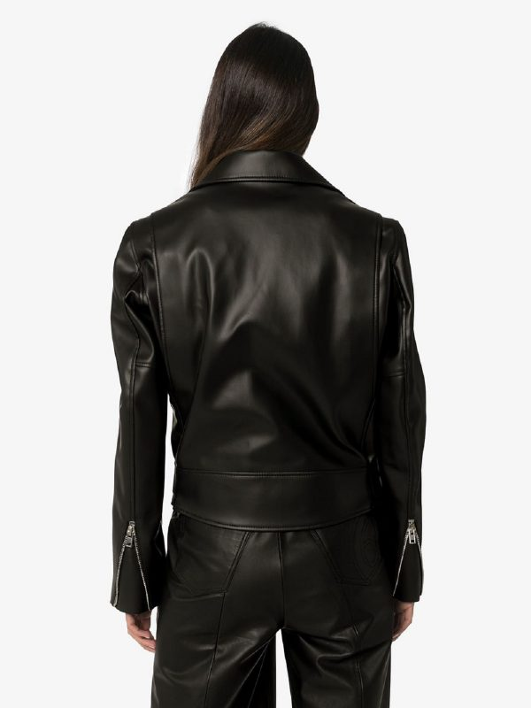 women moto leather jacket