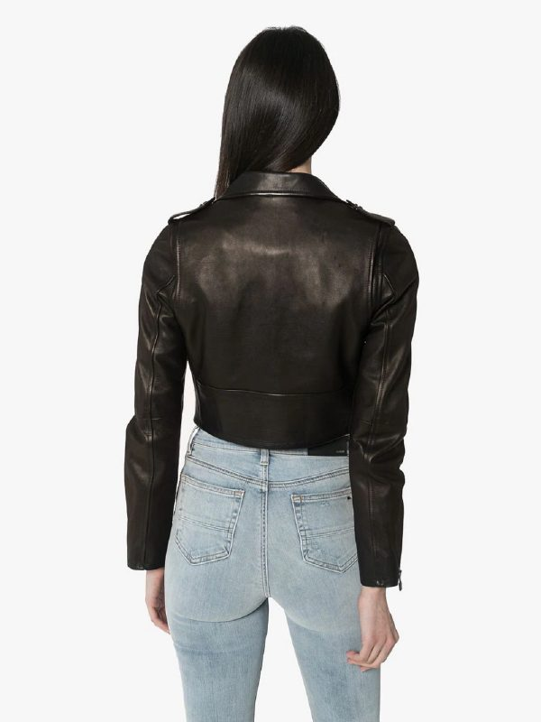 streetstyle leather jacket for women