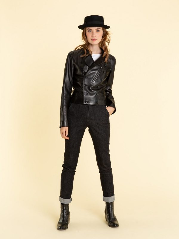 trending women leather jacket