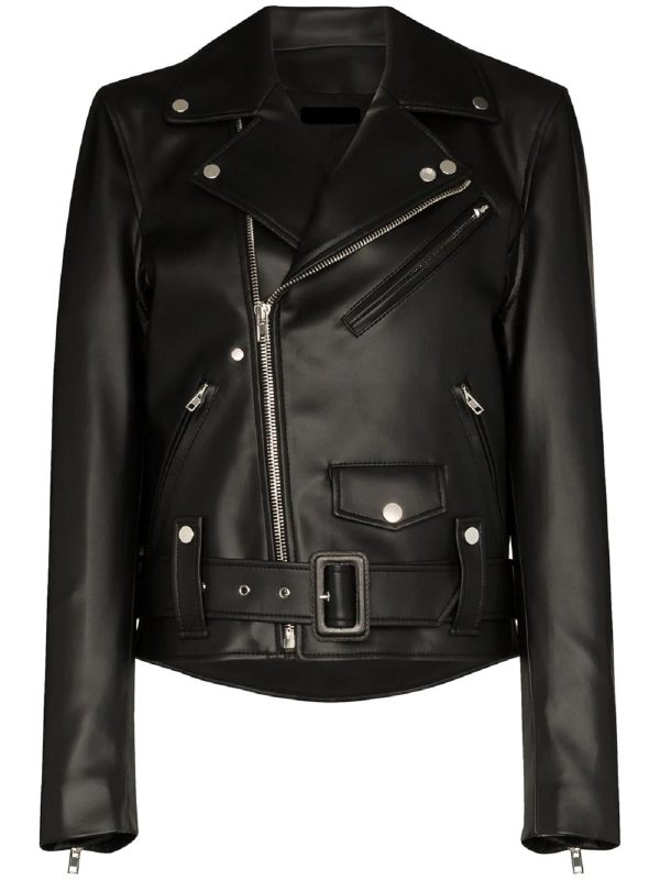 urban style leather jacket for women