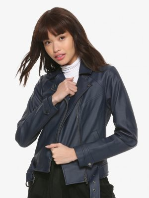 women blue gamer jacket