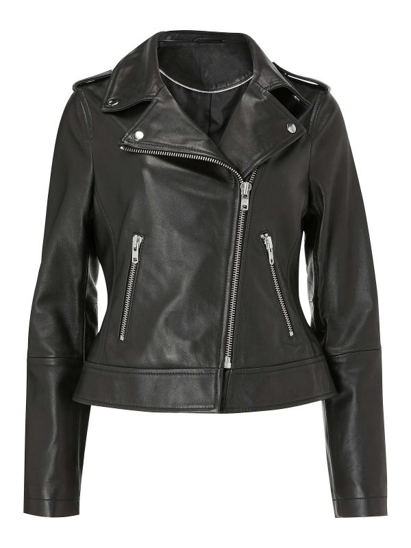 women brando leather jacket