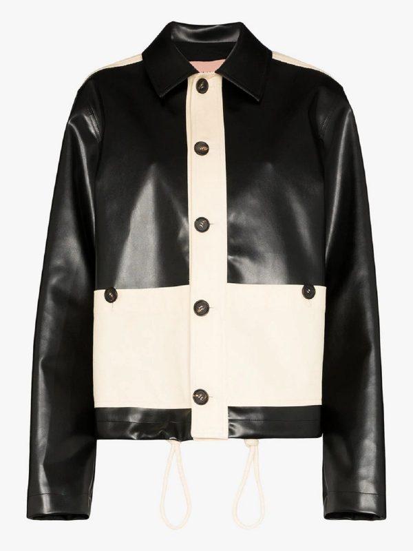 women black & white jacket