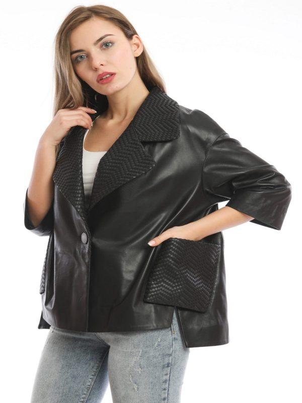 stylish women leather jacket