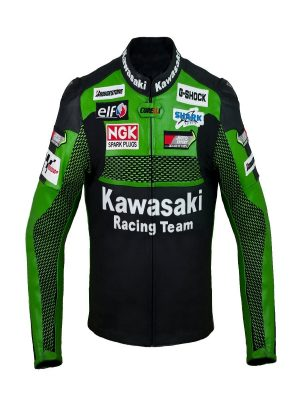 black kawasaki racing jacket for men