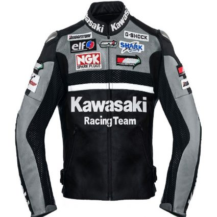 stylish racing leather jacket
