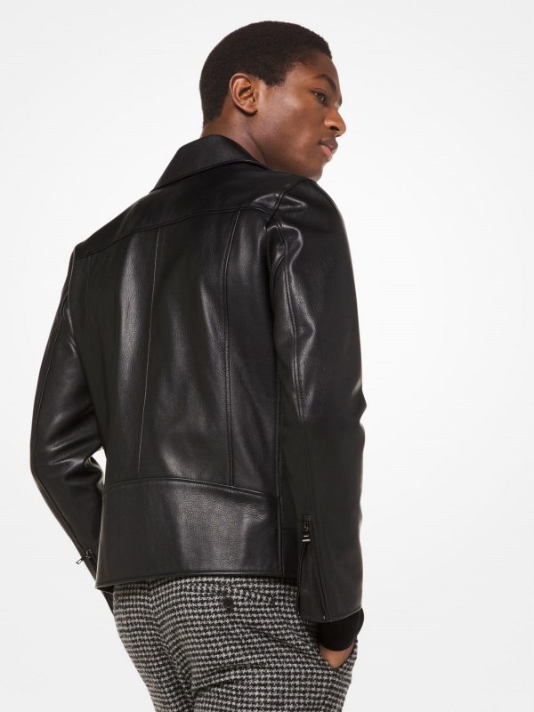 trending men biker leather jacket
