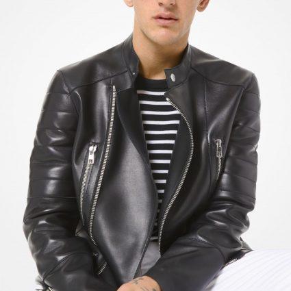 men stylish leather jacket