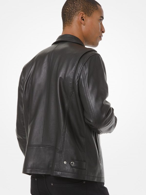 stylish coach leather jacket