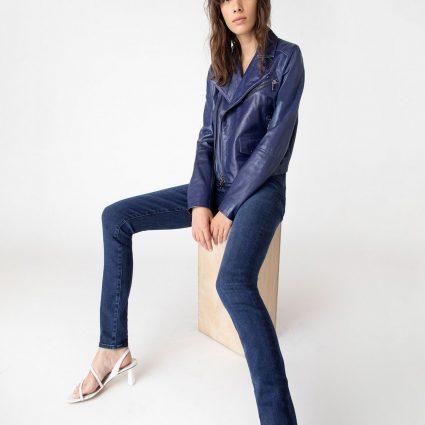 stylish women blue jacket