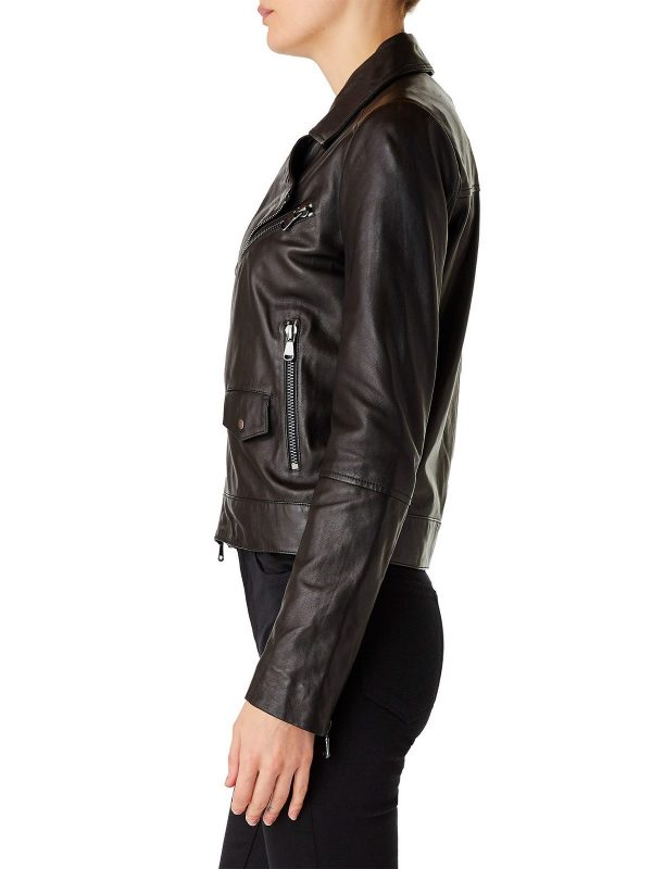 urban style brown leather jacket